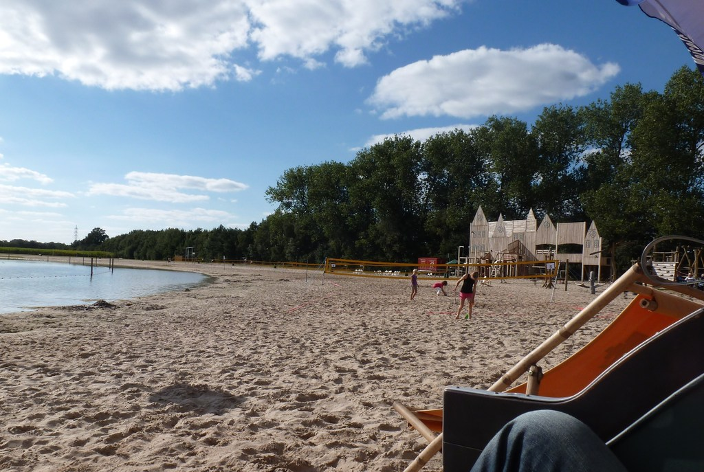Beach near Lingen - with a nice playground and a restaurant
