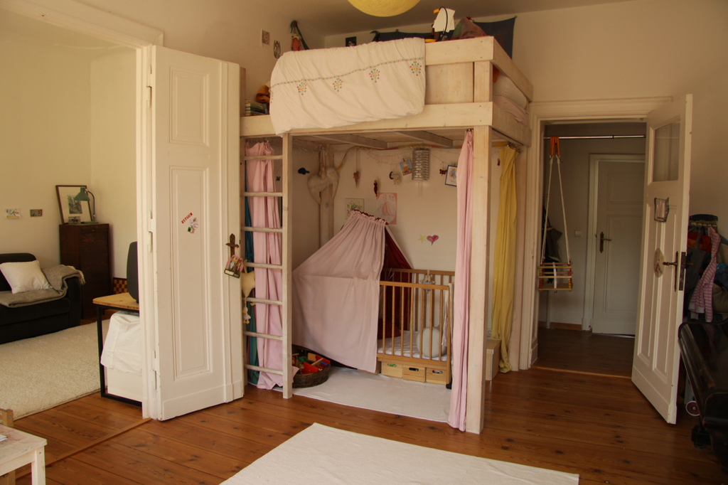 nursery with loft bed