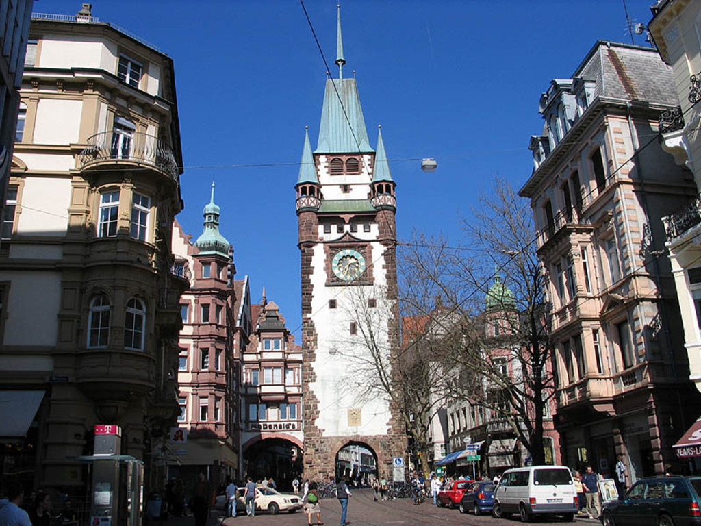 Martinstor, downtown Freiburg