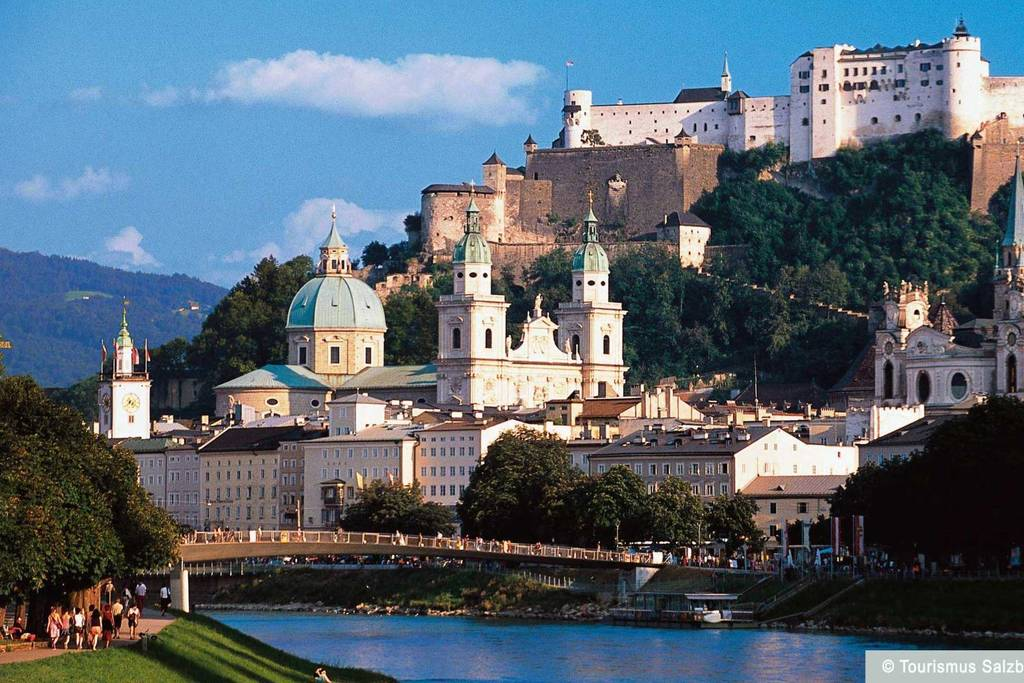 Salzburg, you can go by train or by car, about 45 minutes