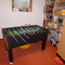 table-football in the cellar, in the garden there is also a table-tennis.