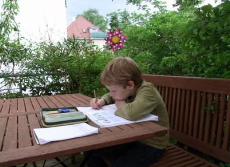 homework at the terrasse