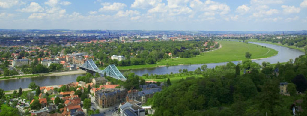 Dresden with river Elbe
