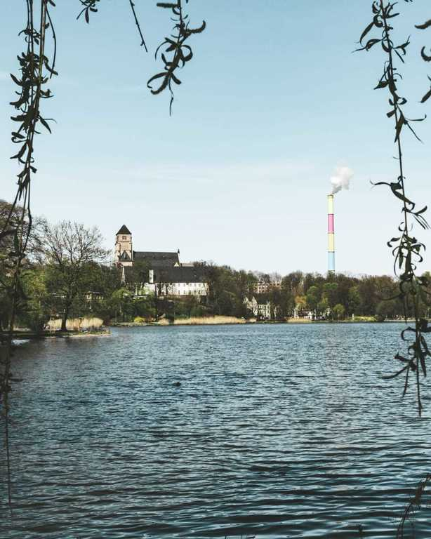 lake Chemnitz, one kilometer from our house, 12 minutes walk