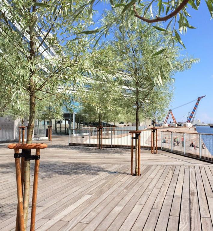 Le long du port d'Aarhus