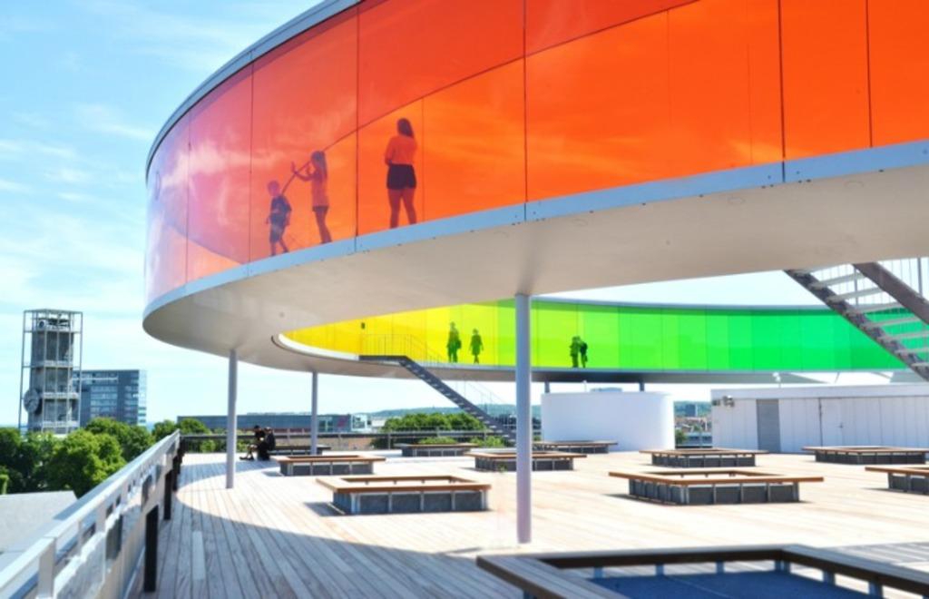 L'arc en ciel à ARoS -musée de l'art