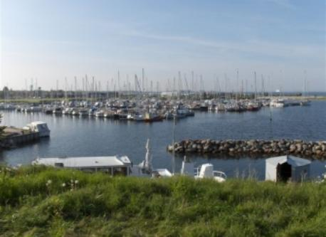 The marina viewed from the old fortress in Dragør