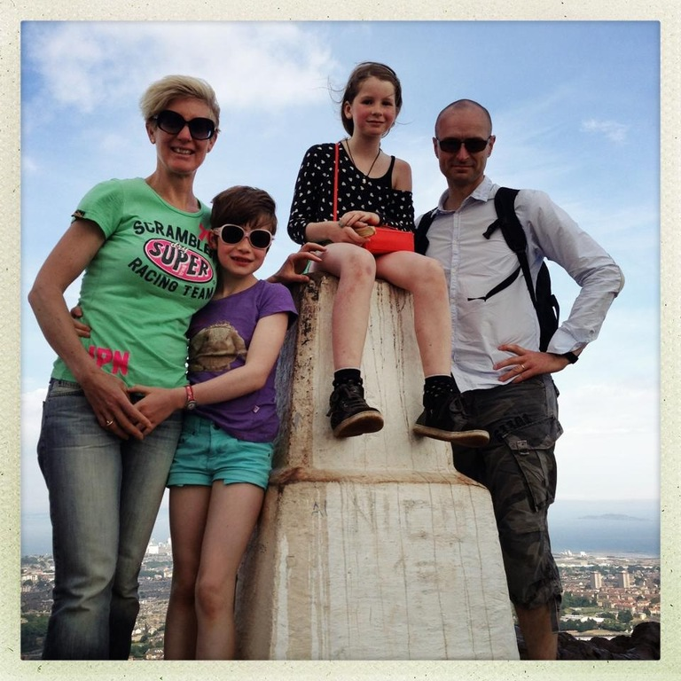 Louise, Victoria, Elizabeth and Jakob on our first exchange in Edinburgh July 2013.