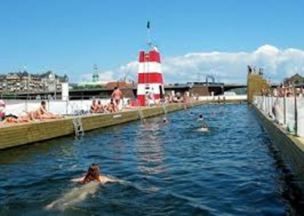 One of the Copenhagen harbour baths