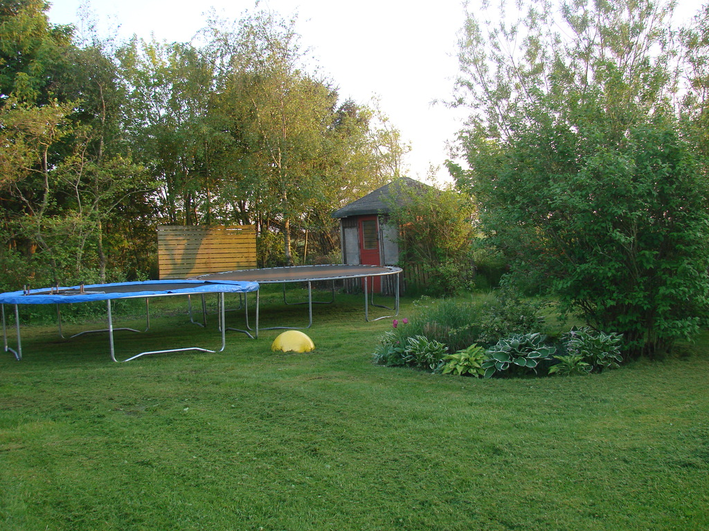 Two trampolins give plenty of great hours of fun