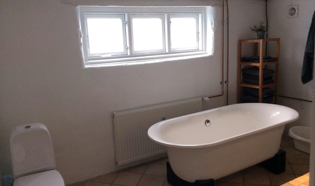 Bathroom with tub.