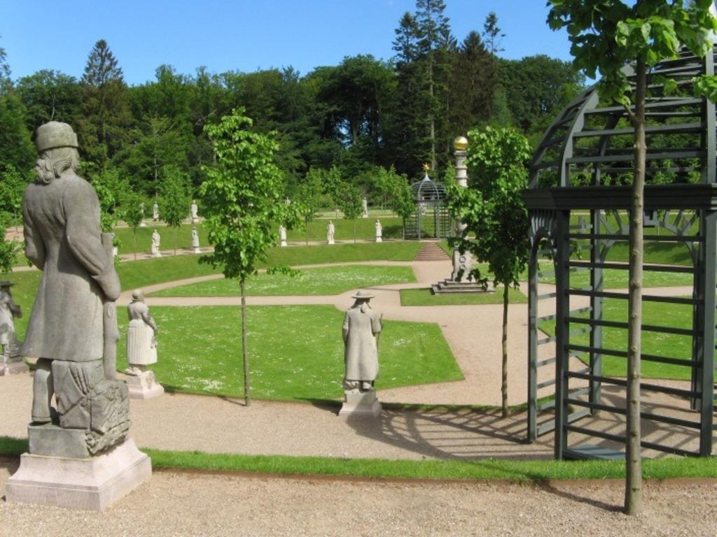 Nordmansdalen - part of the public garden around Fredensborg Castel.