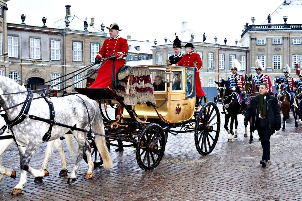 Amalienborg Castle, home of the queen, Copenhagen