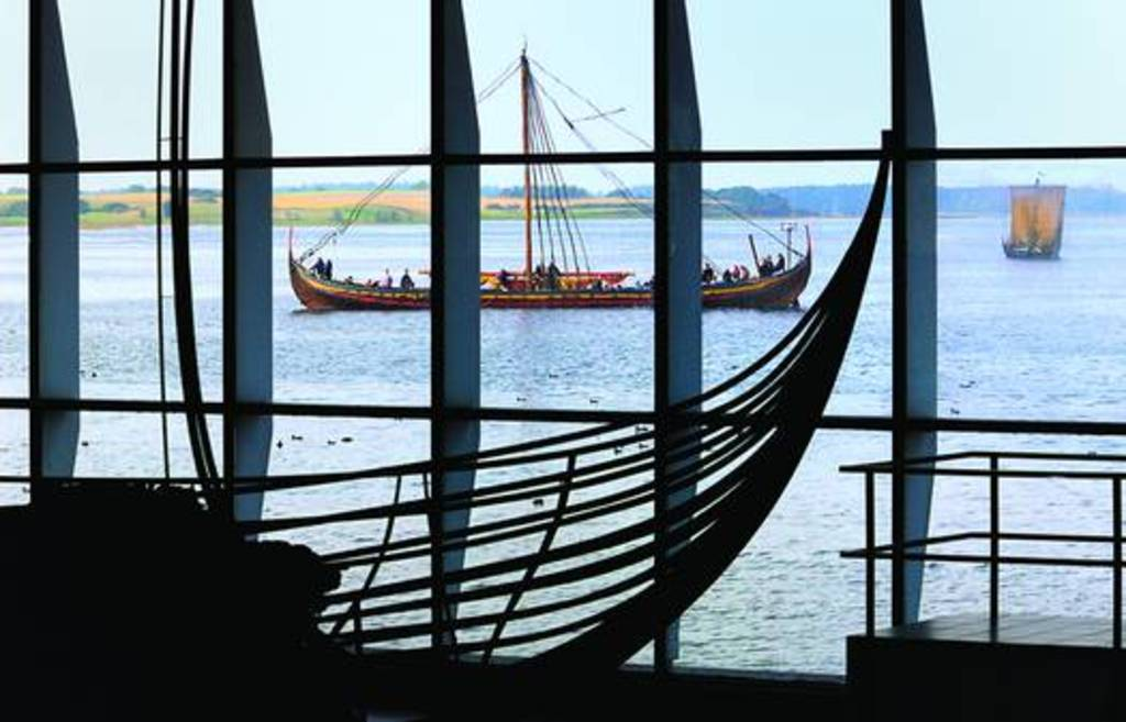 Wiking Ship Museum at Roskilde. With unique possibility to sail in real ships. 40 mins drive.