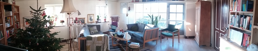 living room panorama as seen from the hall