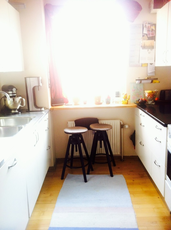 Small but cosy kitchen, who you can sit and eat the breakfast