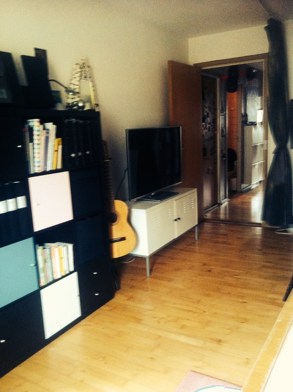 Big flat tv, dvd and stereo