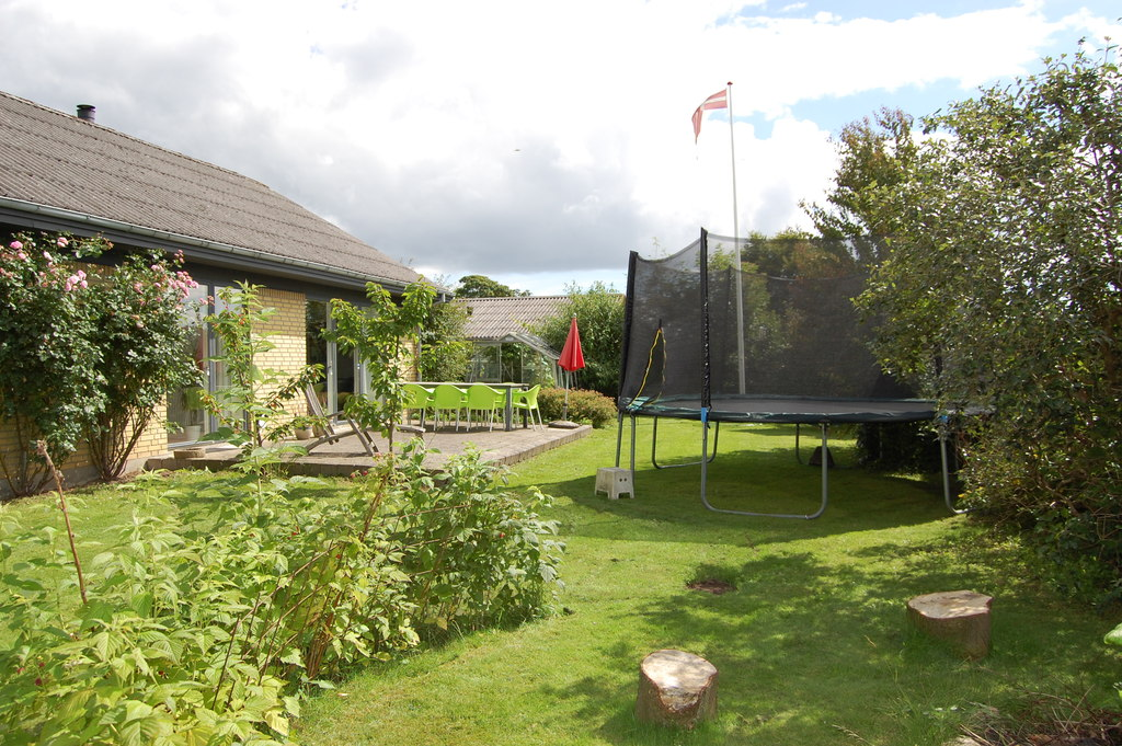 Our garden and trampolin