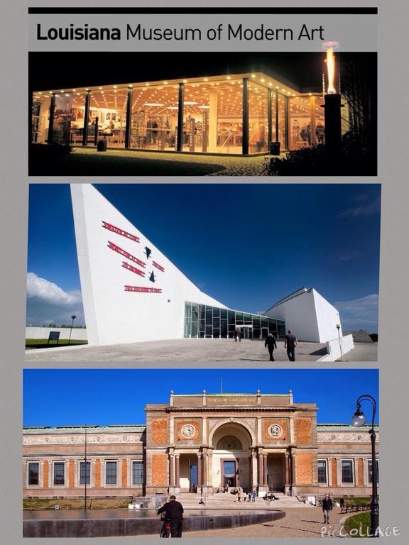 Museums: Arken, Louisiana, Statens Museum For Kunst etc.