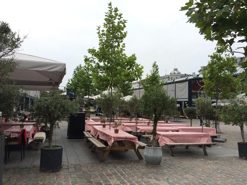 Foodmarket/ Torvehallerne before opening hours on a Sunday