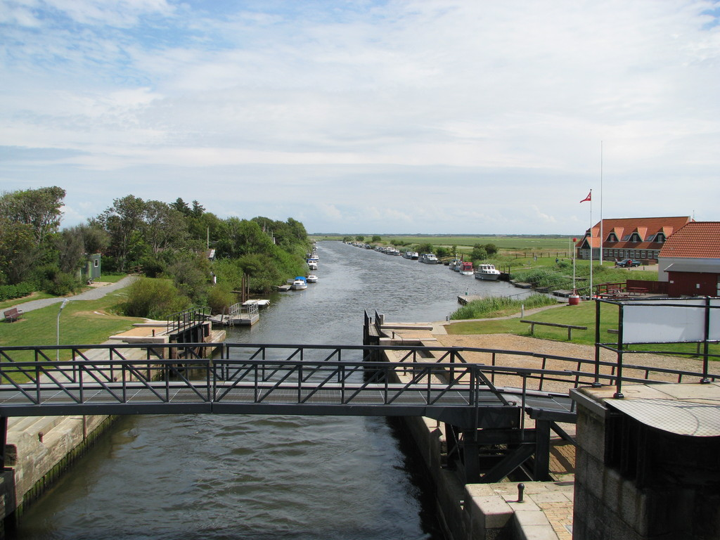 Kammerslusen - a sluice by the medieval town of Ribe