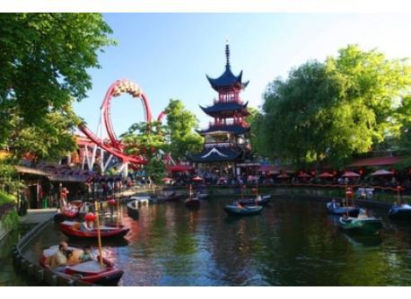 Tivoli Amusement Park - a 10 minuttes walk.