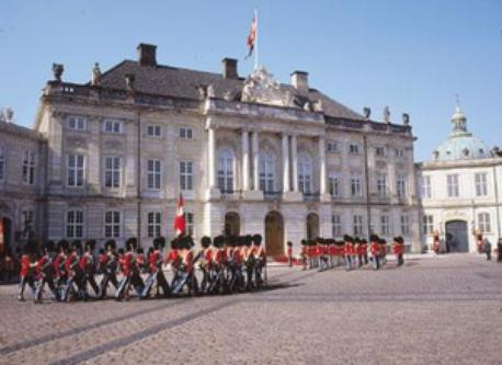 Amalienborg - home of the Royal Family