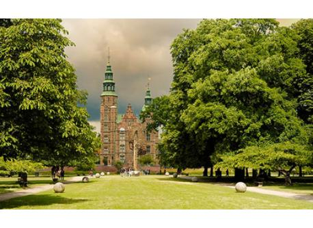 Rosenborg Castle located in Kings Gardens in the city center