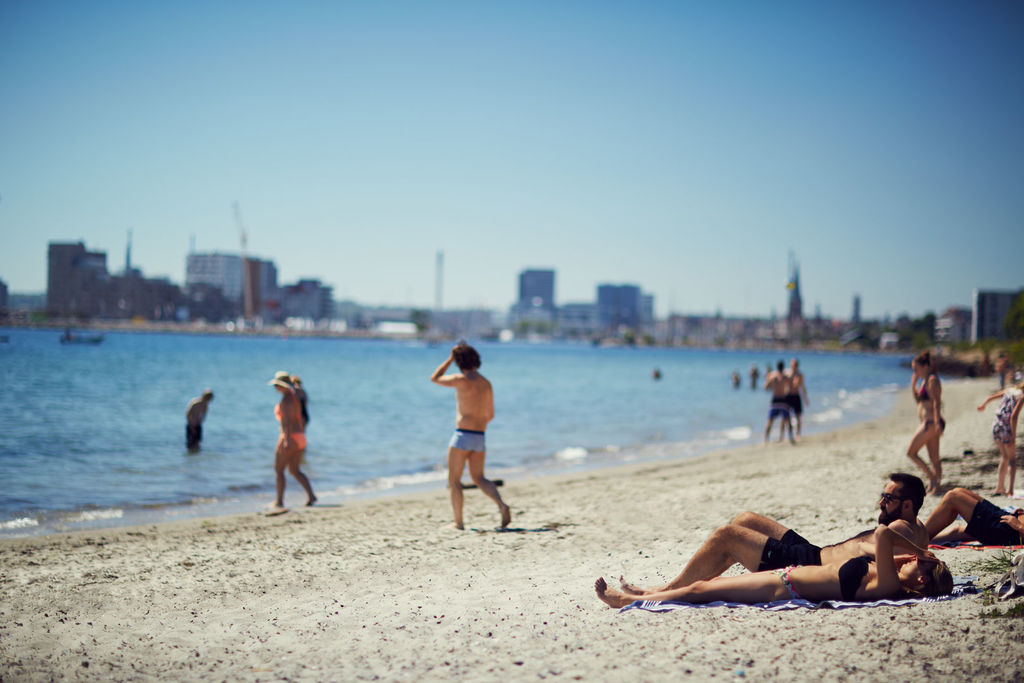 The beach in Aarhus City