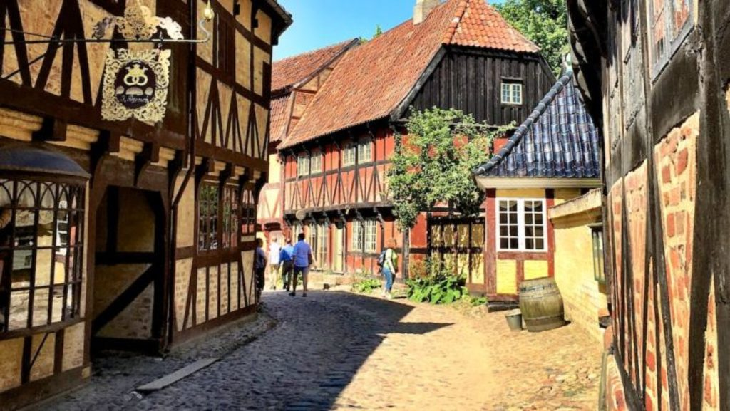 The old city in Aarhus