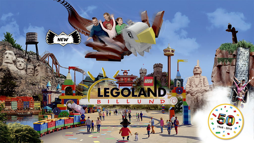 Legoland in Billund, 77 km away