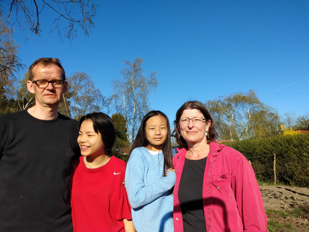 Our family Jens, Fransiska, Flora and Anne Marie