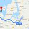 Route to sommer cottage at Bognæs Strand, Tuse Næs, Holbæk