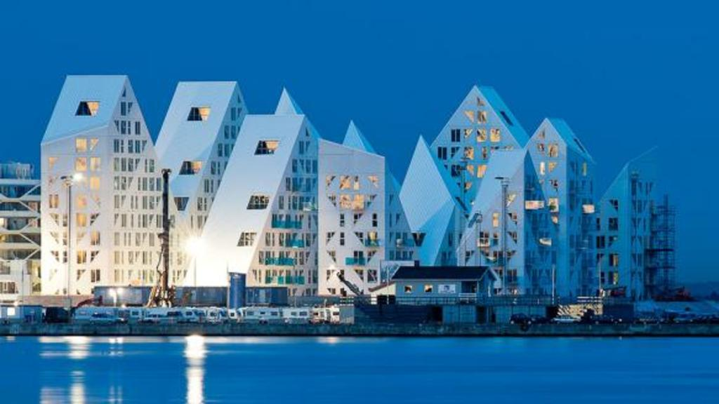 Modern architecture at Aarhus Harbor