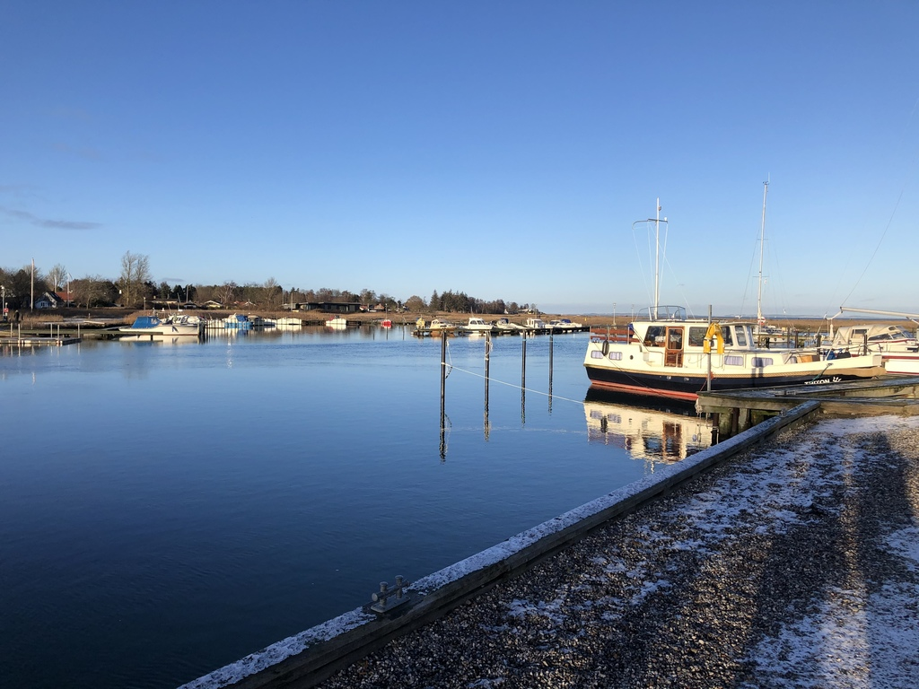 The small harbour nearby