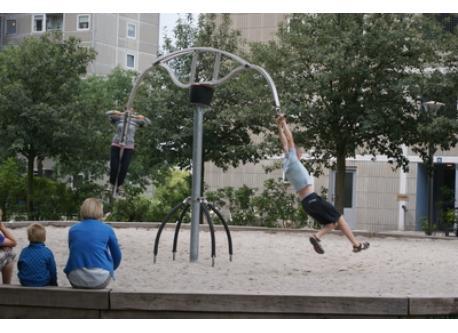Playground, 10 min walk