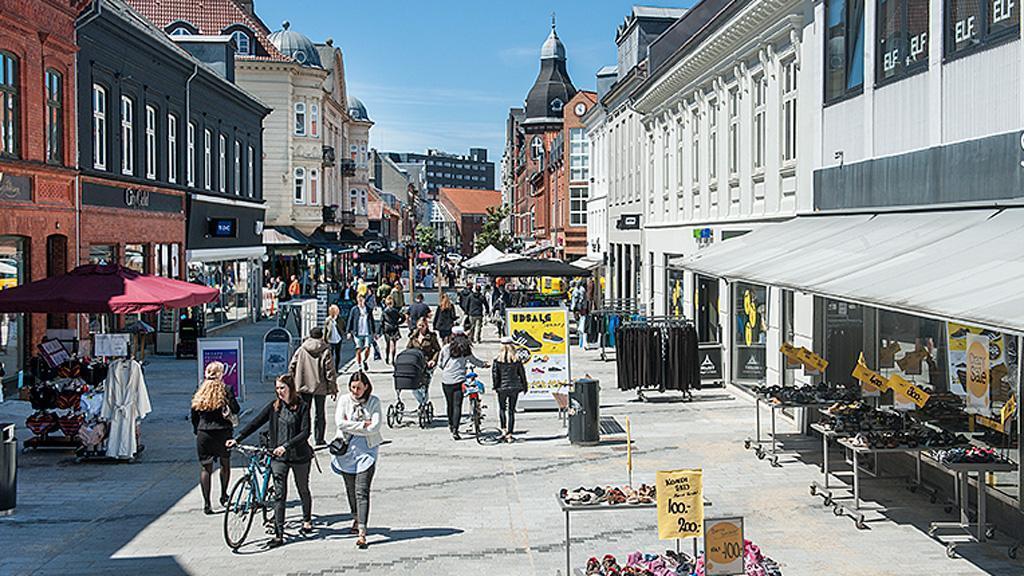 Shopping street in Esbjerg