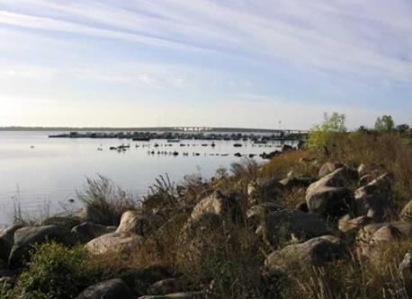The nearby bird protection habitat area