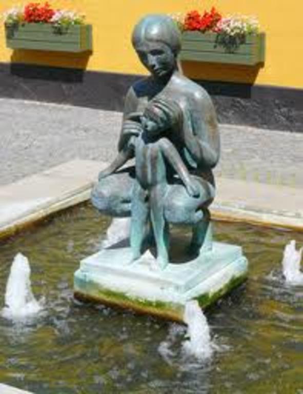 Small fountain in the center of Sorø