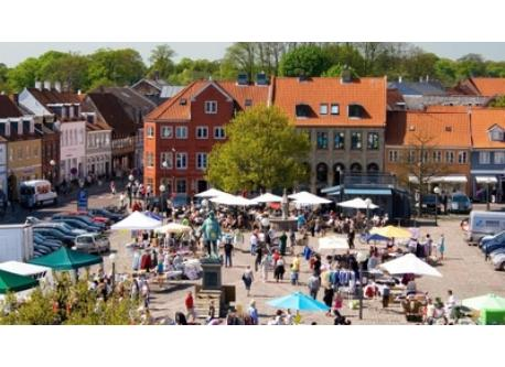 Shopping and market in Køge