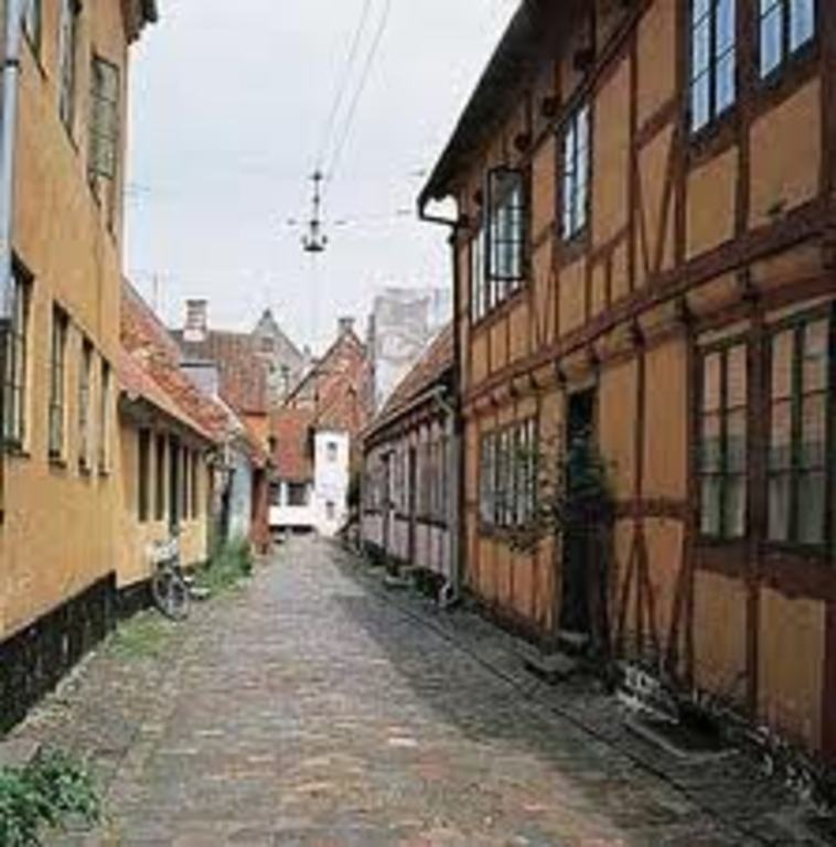 Helsingør (Elsinore) has a well preserved town center
