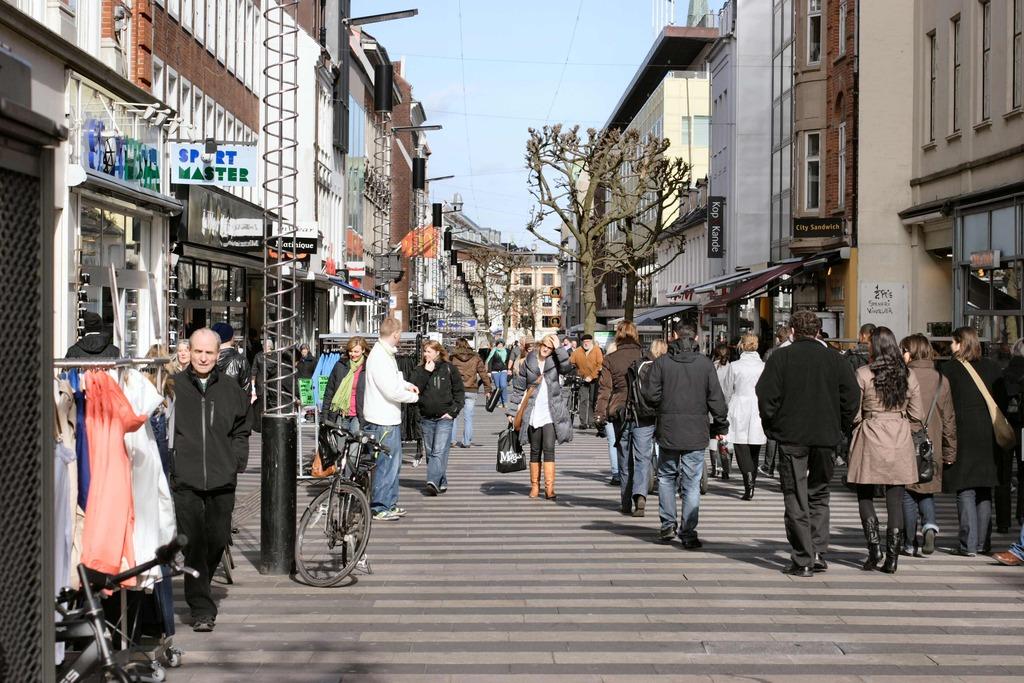 Shopping street in Aarhus