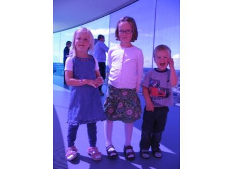 Our children in AROS Rainbow Panorama. Kids love it:-)
