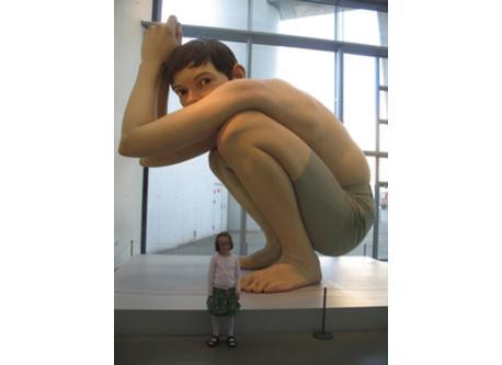 BOY in the art museum AROS. He´s big!