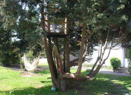 Treehut in the garden