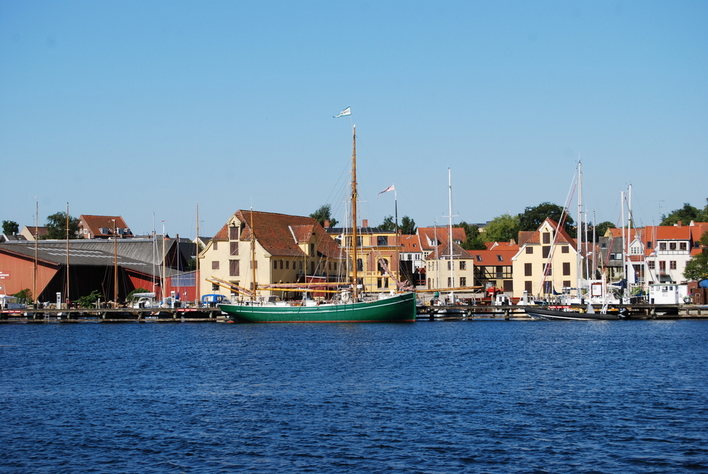 The habour with the old wooden ships - 5 min away by car.
