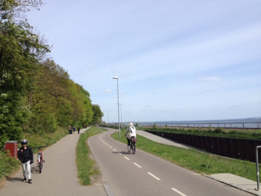 The bicycle path from our house to the centre of Aarhus