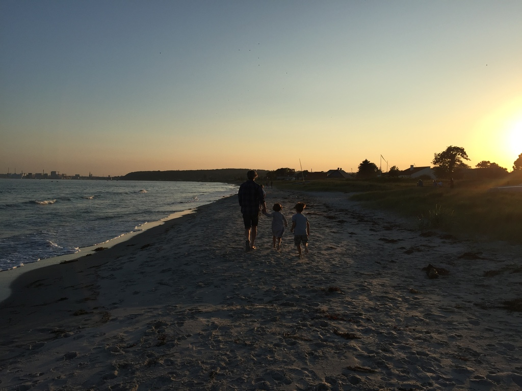 Evening stroll at the beach