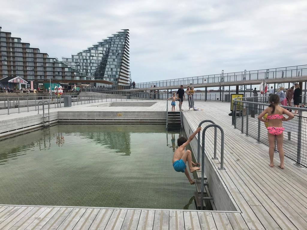 Swimming in Havnebadet at Aarhus Ø (10 min bike)