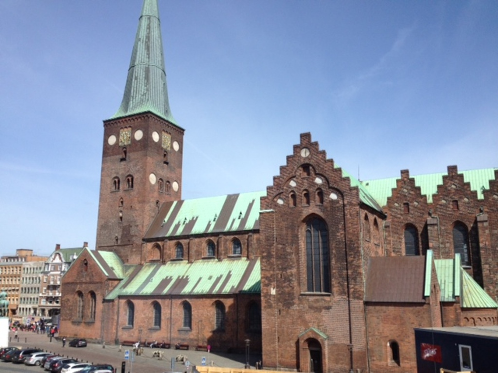 View of the cathedral  from Aarhus theatre